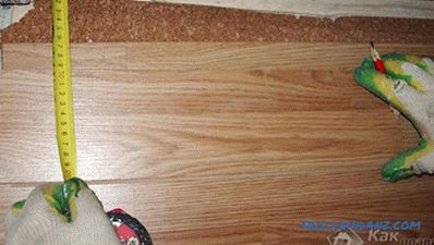 Laying laminate do it yourself - how to lay