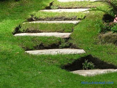 Do-it-yourself garden staircase - arrangement of uneven area + drawings