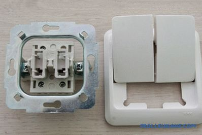 How to connect a light switch with two keys + Photo