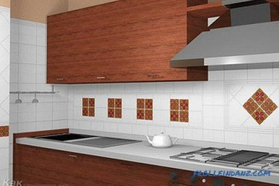 How to lay the apron of the tiles in the kitchen