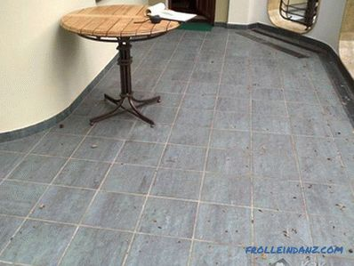 What to cover the floor on the balcony