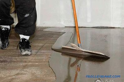 How to make self-leveling self-leveling floor
