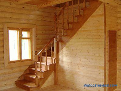 Do-it-yourself wooden ladder installation (photo)