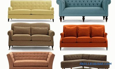 Types of sofas, their designs and transformation mechanisms + Video