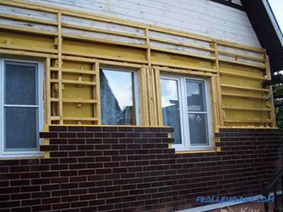 Finishing the facade of the house with thermopanels - thermopanels on the facade