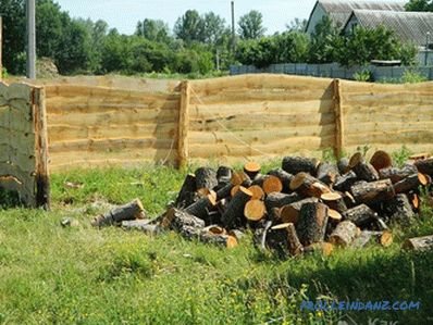 How to make a fence of unedged boards