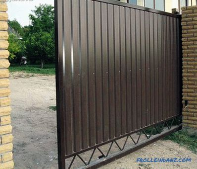 How to make a gate of corrugated