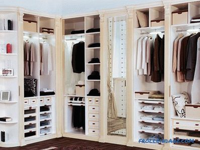 How to arrange a dressing room - planning and design of a dressing room (+ photos)