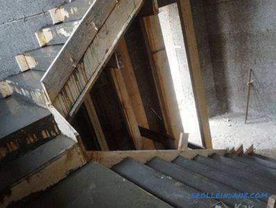 Monolithic staircase do it yourself - reinforced concrete staircase (+ photos)