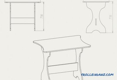 Do-it-yourself kitchen table - instructions for making, drawings and assembly schemes (video)