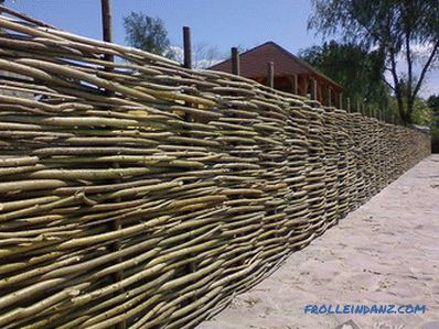 How to make a wooden fence - a fence made of wood