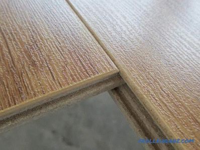 Laminate with or without chamfer