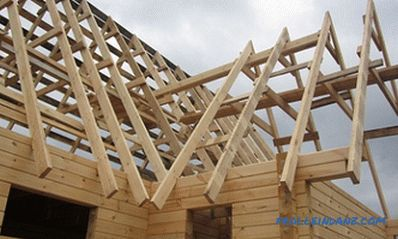 Rafter roof system with an end: installation features