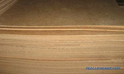 Dimensions of fiberboard, dimensions of sheets, its density and brand plates