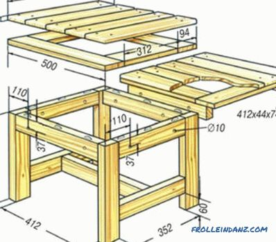 Wooden table with your own hands from the board and beam: drawings (photo and video)