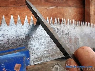 How to sharpen and dilute the saw