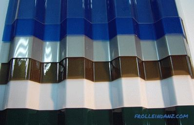 Types of polycarbonate, sheet sizes, structure and color range