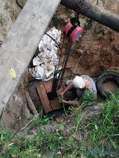 How to pull a pipe out of a well