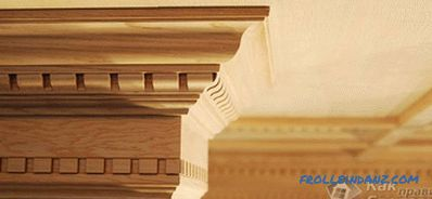 How to choose a ceiling plinth - the choice of ceiling plinth