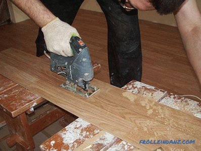 How to cut laminate - sawing laminate