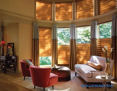 Roman curtains in the interior - the rules of selection and combination, photo ideas