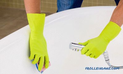 How to wash an acrylic bath - tips on washing with tools and special tools + Video