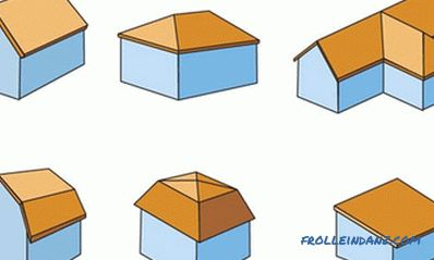Types of roofs of private houses, their forms and options + Photos