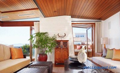 Wooden ceiling do it yourself - manufacturing and design (+ photos)