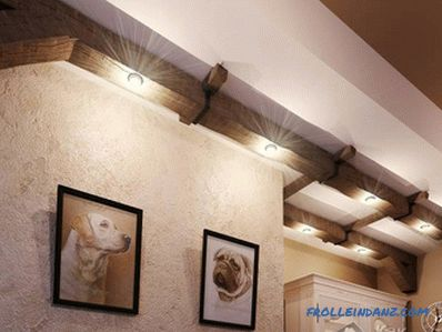 How to beat the beams on the ceiling in the apartment, the old house (+ photo)