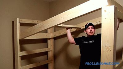How to make a bunk bed with hands with wood + Photo