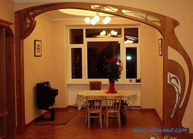 Decorating the arch with your own hands - decorating the arch in the apartment