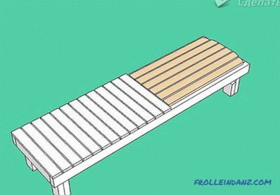 How to make a chaise lounge with hands with wood + drawings, photos, videos