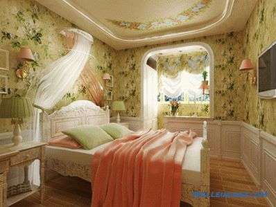 Provence style bedroom interior design