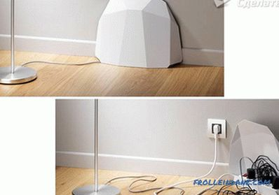 How to hide the wires in the apartment