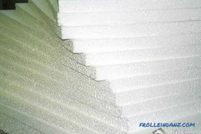 Thermal insulation of the walls with foam plastic