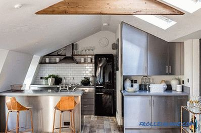 Loft-style kitchen - 100 interior ideas with photos
