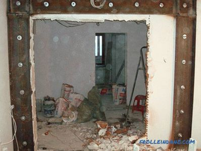 How to make an opening in the bearing wall