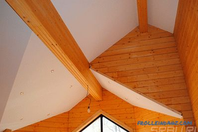 How to sheathe the ceiling in a wooden house - the best solutions