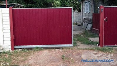 How to make a sliding gate - design features and installation (+ diagrams)