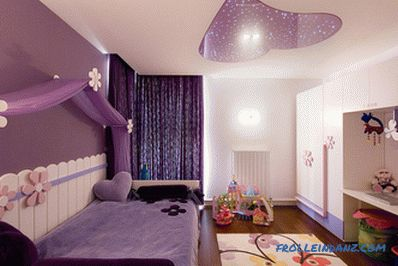 Violet color in the interior and its combination with other colors + photo examples