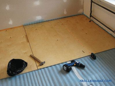 How to level the floor under the laminate with their own hands