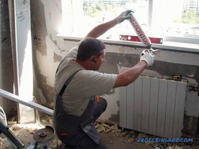 How to replace a window sill - dismantling and installing a window sill