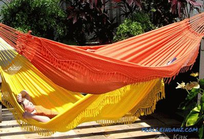 How to make a hammock with your own hands + photo