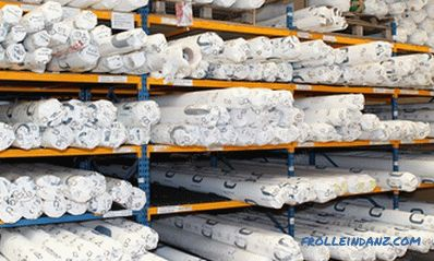 Types of stretch ceilings on the material of manufacture, construction and design + Photo