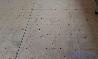 Flooring with plywood do-it-yourself: features, some moments (video)