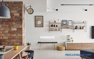 Scandinavian style in the interior of a country house