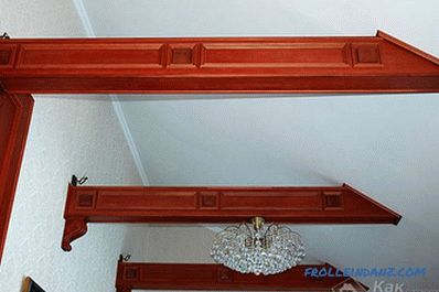 Decorative beams in the interior - the use of decorative beams
