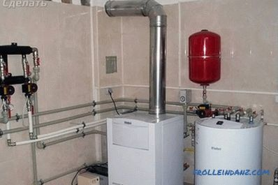 How to connect the boiler to the boiler