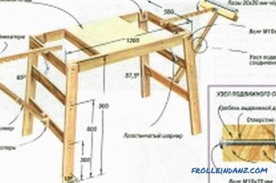 Table for a manual circular saw do-it-yourself: features