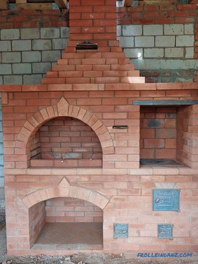 Brazier from a brick with their own hands + photos, schemes